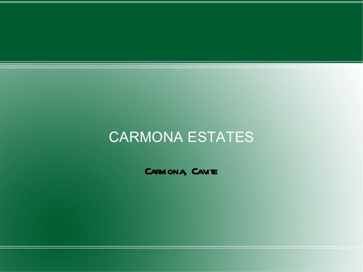 CARMONA ESTATES Carmona, Cavite