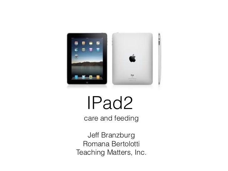 TMI iPad Presentation for ITHS