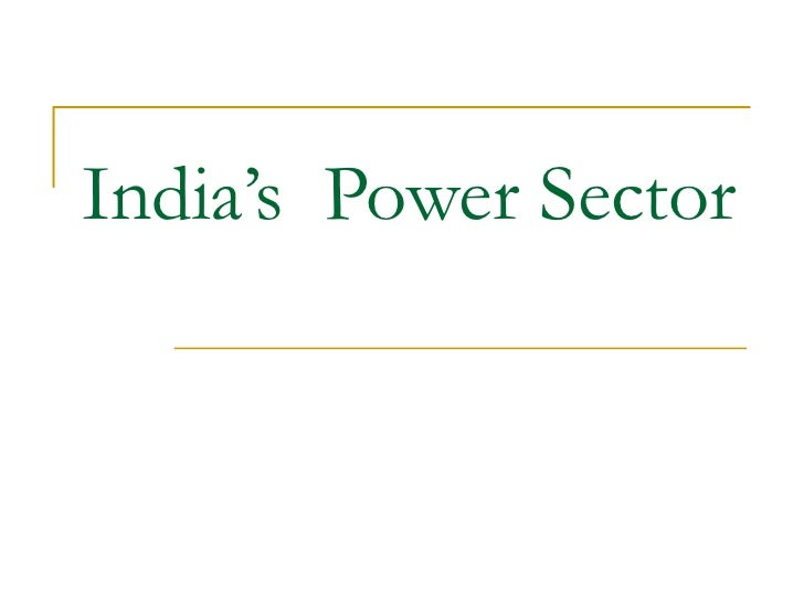 India's  Power Sector