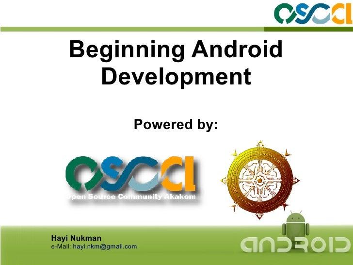 Begining Android Development