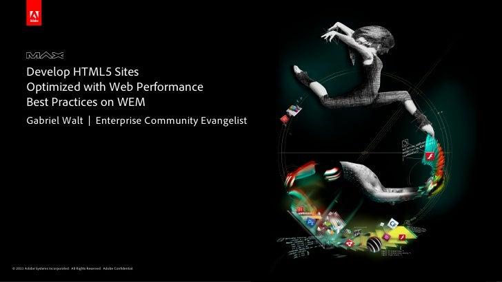 Optimizing HTML5 Sites with CQ5/WEM