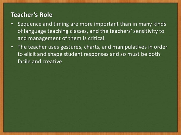 Whose teaching is more important?