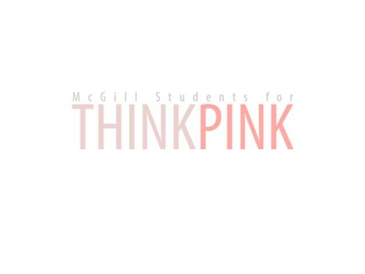McGill Students For Think Pink