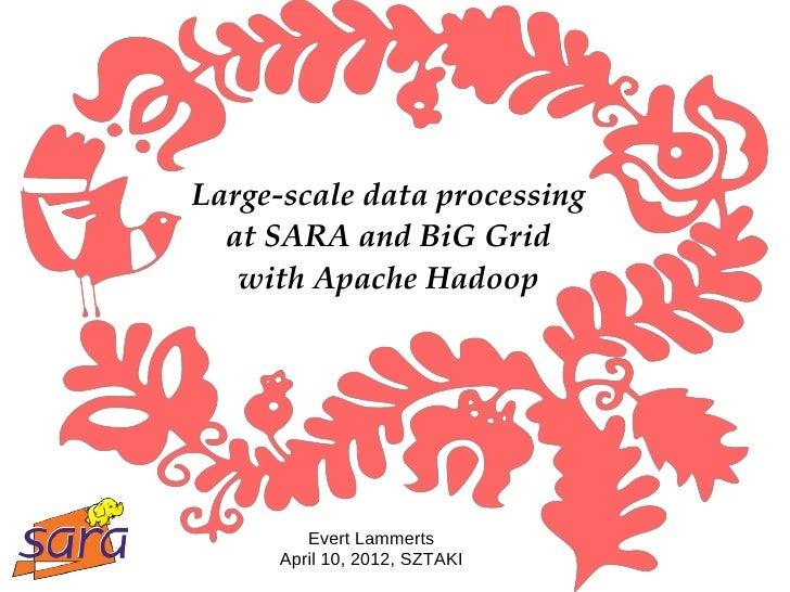 Hadoop @ Sara & BiG Grid