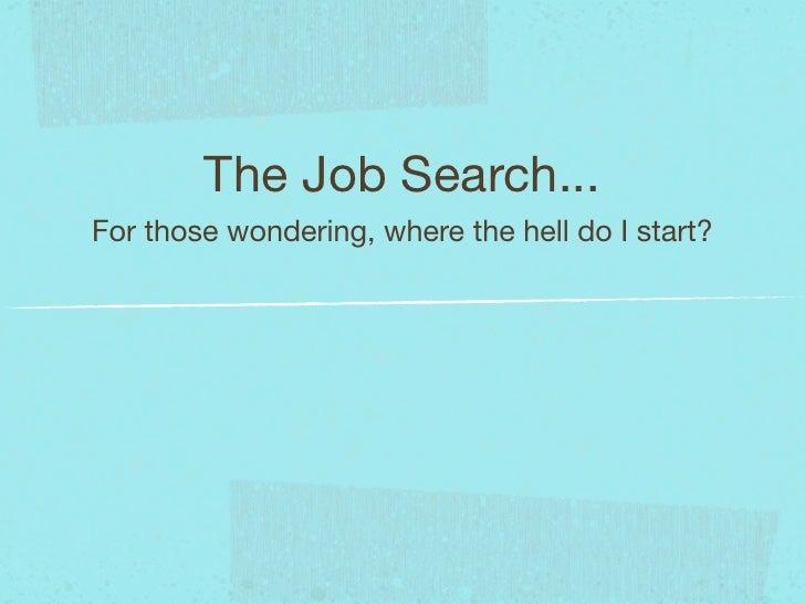 Portfolio Presentation - Job Searching