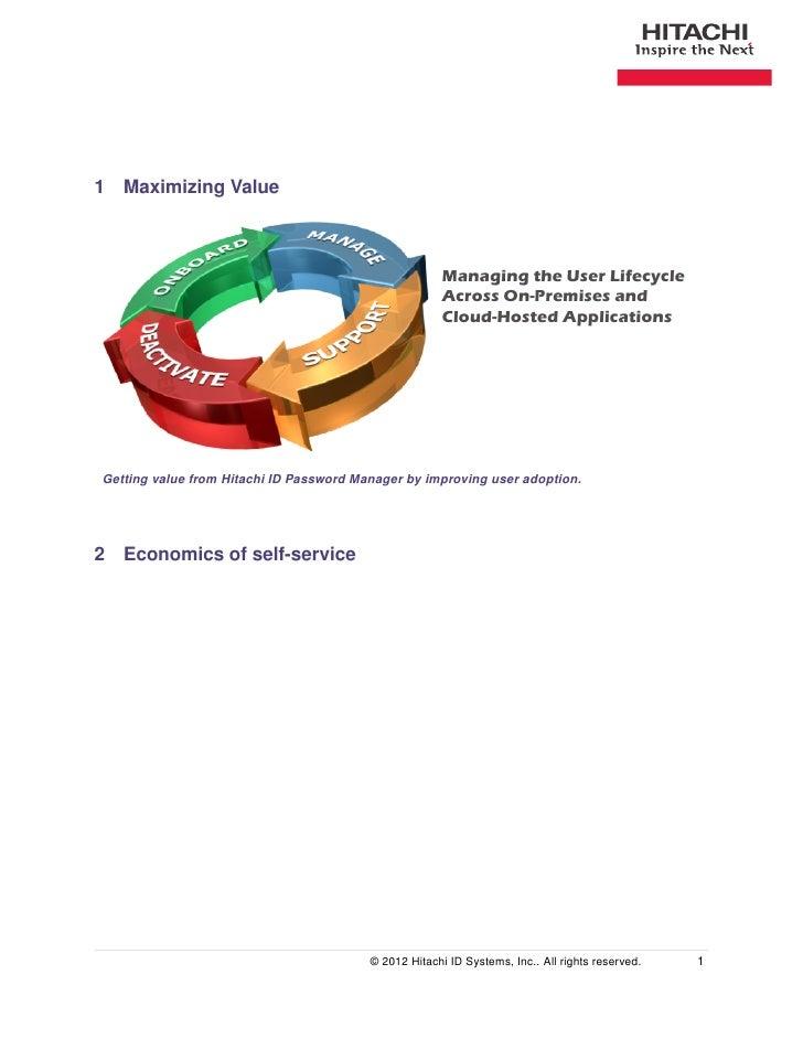 1 Maximizing Value                                                       Managing the User Lifecycle                      ...