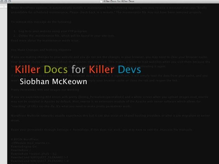 Killer Docs for Killer Devs