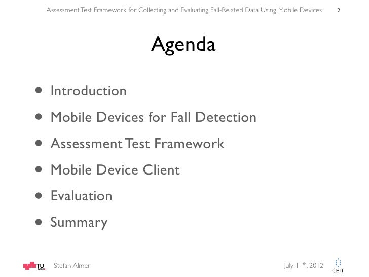 Test Assessment Assessment Test Framework For