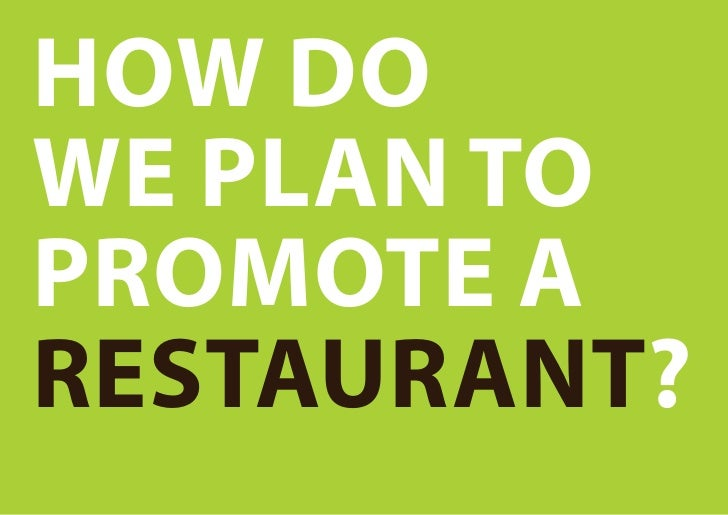 How to promote a restaurant?