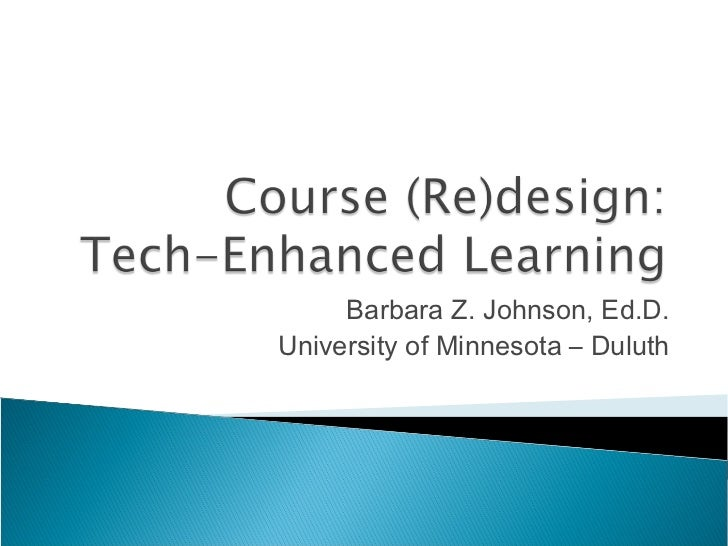 Course (Re)design