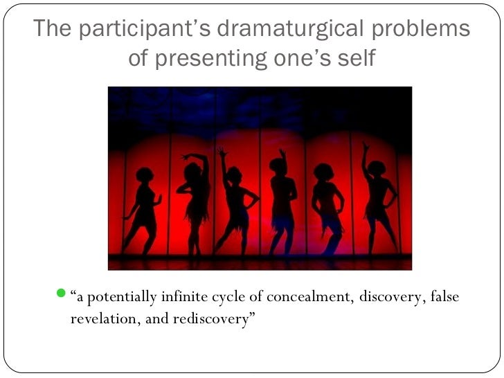 the presentation of self in everyday A summary of the presentation of the self in everyday life by erving goffman,  and a brief discussion of its relevance to a level sociology.