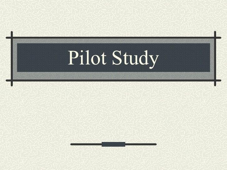 sURVEY PILOT STUDY