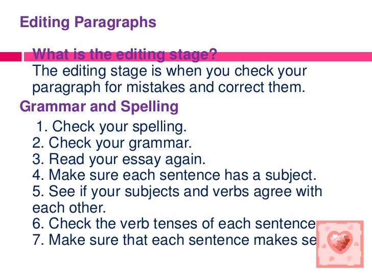 Paragraphs to correct