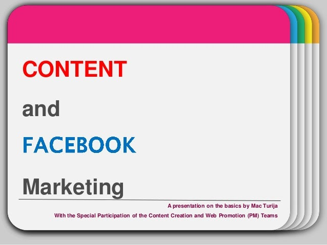 Content and Facebook Marketing
