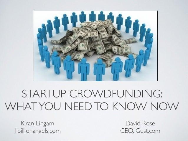 Equity Crowdfunding 101 - Presentation