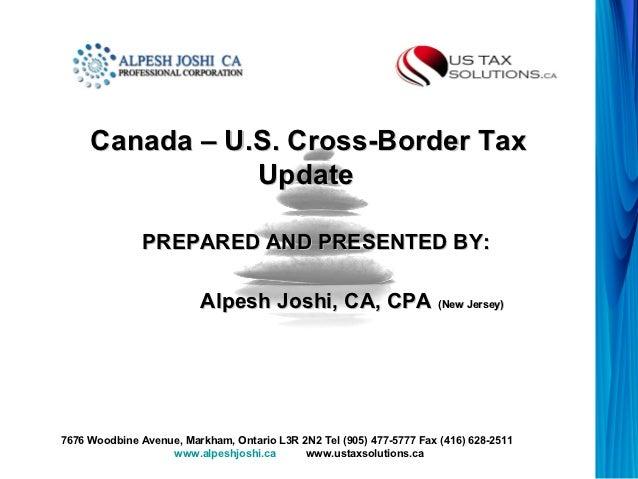 Presentation- Cross Border tax