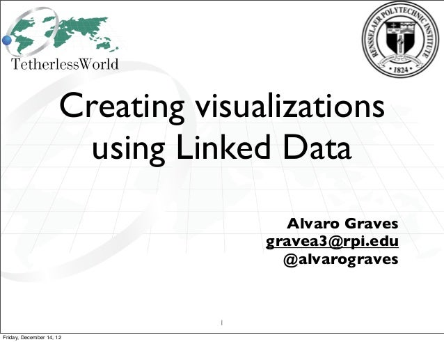 Creating visualizations                       using Linked Data                                      Alvaro Graves        ...