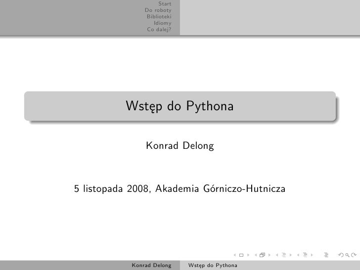 Wprowadzenie do Pythona