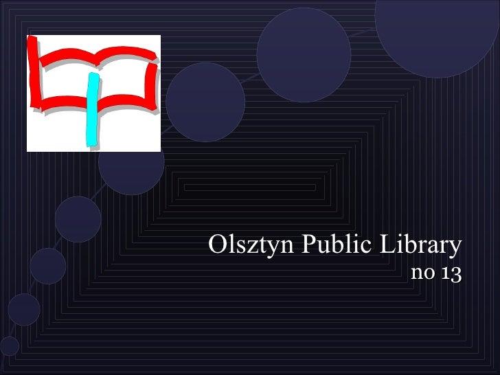 Olsztyn Public Library no 13
