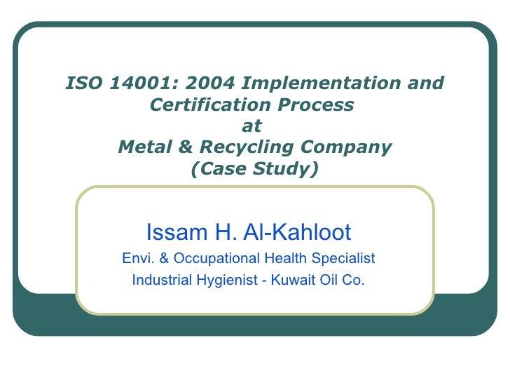 MRC ISO 14001 Implementation