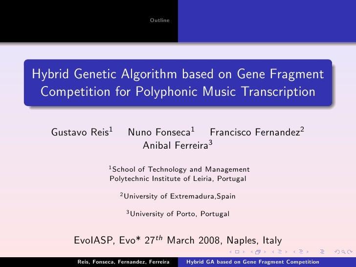 EvoIASP 2008 Presentation