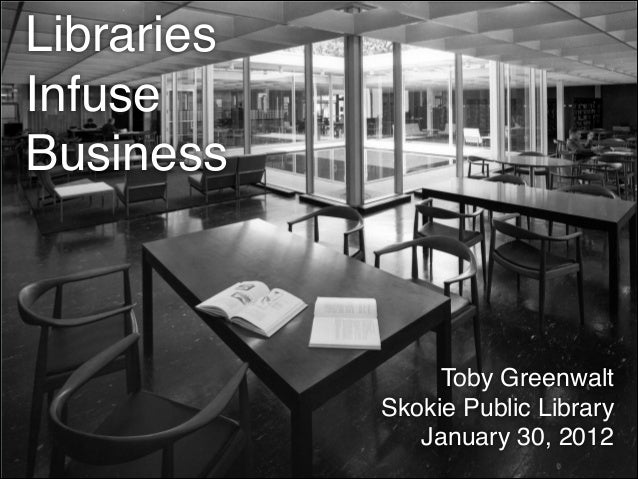 Libraries Infuse Business