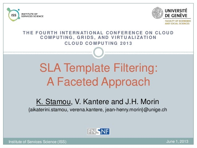 SLA Template Filtering: A Faceted Approach