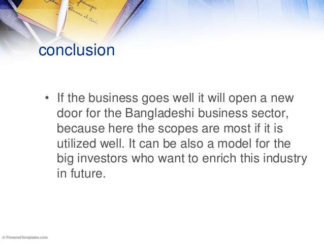 Conclusion of a business plan