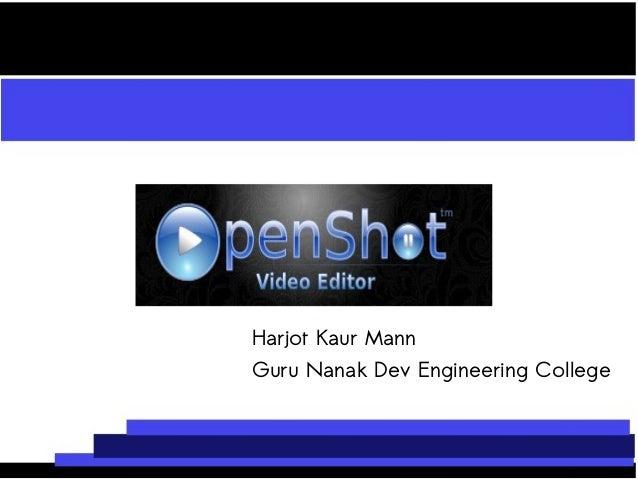 Harjot Kaur Mann Guru Nanak Dev Engineering College
