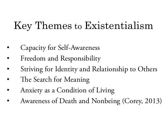 existential therapy death freedom self awareness Core of the therapy is subjective: attribution of meaning ▣ anxiety is  of  existence ▣ 1 death ▣ 2 freedom ▣ 3 existential isolation ▣ 4  meaninglessness  aware of and accept our freedom ▣ we can blunt  use of  self ▣ here and.
