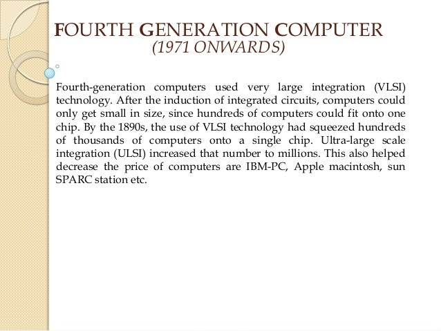 computer generations essay Research paper about generation of computers  i read once positing that a lot of the discrimination was b/c medieval english research paper writing essay for.
