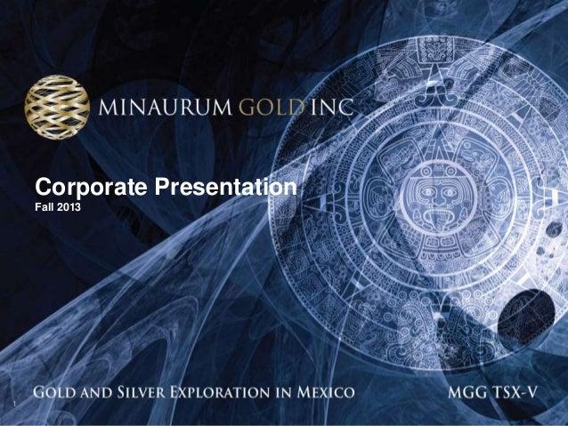 Corporate Presentation Fall 2013