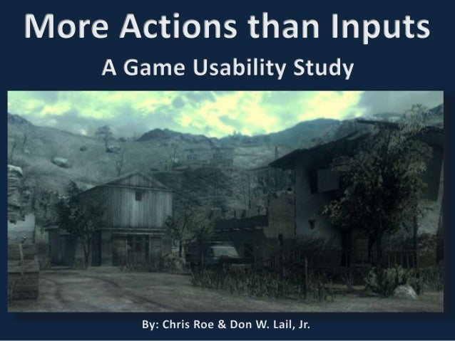 More Actions than Inputs: A Game Usability Study