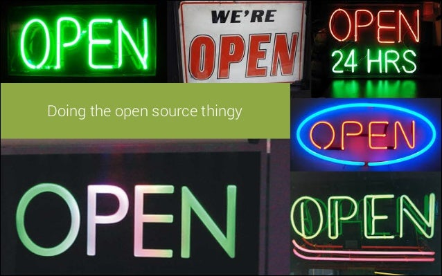 !  Doing the open source thingy