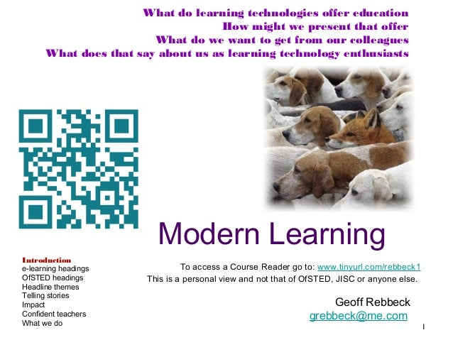 What do learning technologies offer education How might we present that offer What do we want to get from our colleagues W...