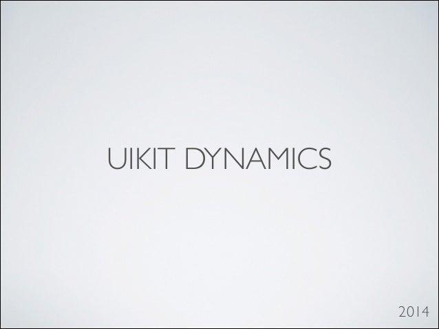 iOS UIkit Dynamic