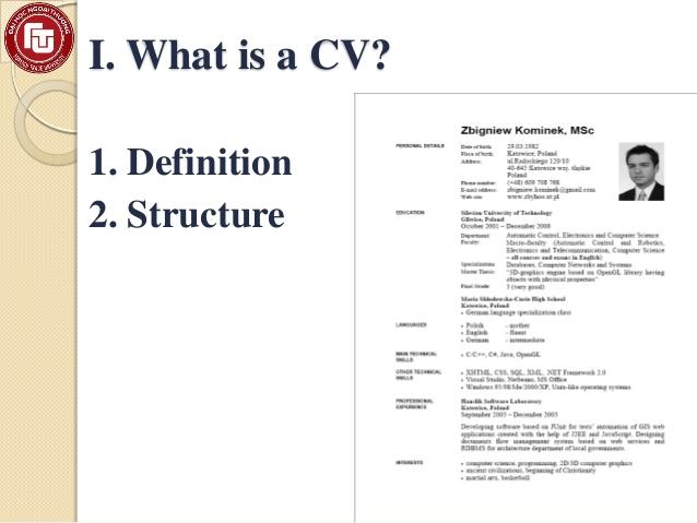 how to write a very good curriculum vitae