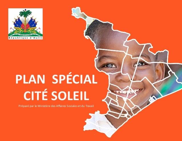 PLAN SPÉCIAL CITÉ SOLEIL Préparé par le Ministère des Affaires Sociales et du Travail