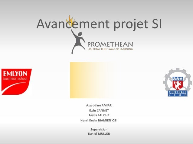 Avancement projet SI Azzeddine AMIAR Ewin CANNET Alexis FAUCHE Henri Kevin NIAMIEN OBI Supervision Daniel MULLER