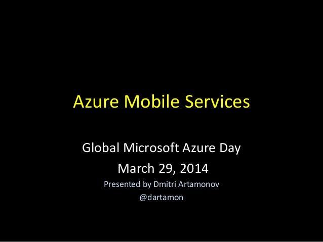 World Azure Day Mobile Services Presentation