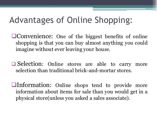 advantages of online shopping essay