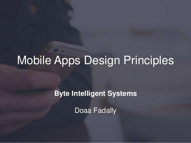 Mobile Apps Design Principles