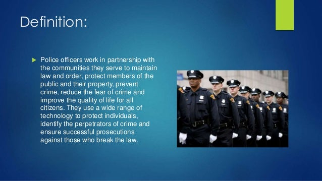 Police officer - Legal compliance officer job description ...