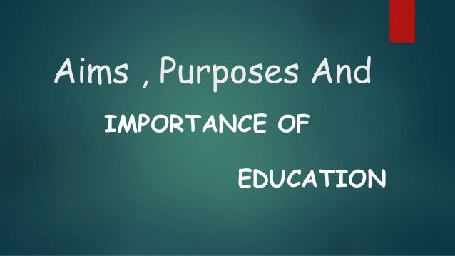 importance of education topic The importance of education education and learning is one of the most important processes in today's society today's youth are tomorrow's teachers in the.