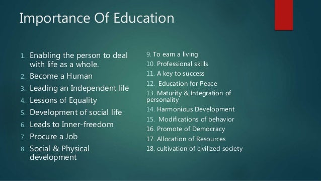 Essay of value of education