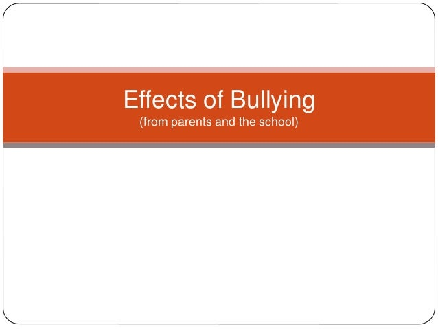 the negative effects of bullying on There are several different negative effects of bullying that are observed worldwide, by teachers, parents and counselors the phenomenon of bullying has been age-old, but today there are a considerable number of psychologists who have proved that there are many negative effects of this phenomenon.