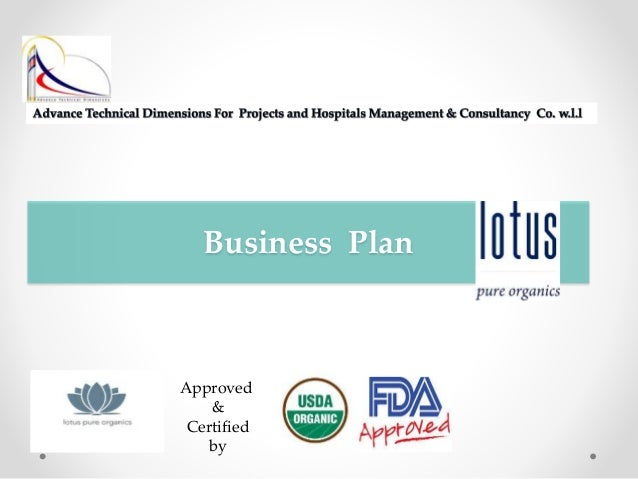 organic products business plan