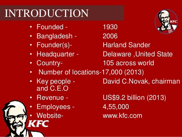 kfc ppt enjoy Prior to the second world war, fried chicken was often very expensive and was only enjoyed on special occasions in the late 1900s and early 2000s, however, fried chicken has been mass-produced and the price of the dish has gone down significantly when being cooked, fried chicken is often divided into smaller pieces.