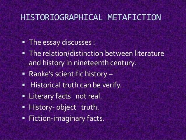 thesis on metafiction Metafiction in jm coetzee's 'foe' - verena schörkhuber - term paper - english language and literature studies - literature - publish your bachelor's or master's thesis, dissertation, term paper or essay.