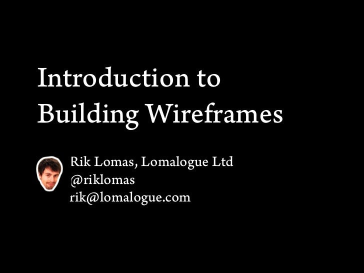 Introduction to Building Wireframes - Part 2